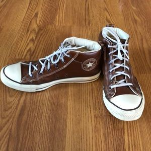 Leather converse all star men's sz 8.5
